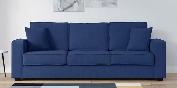 Hugo 3 Seater Sofa in Denim Blue Colour by Woodsworth