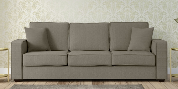 Hugo Three Seater Sofa In Sandy Brown Colour