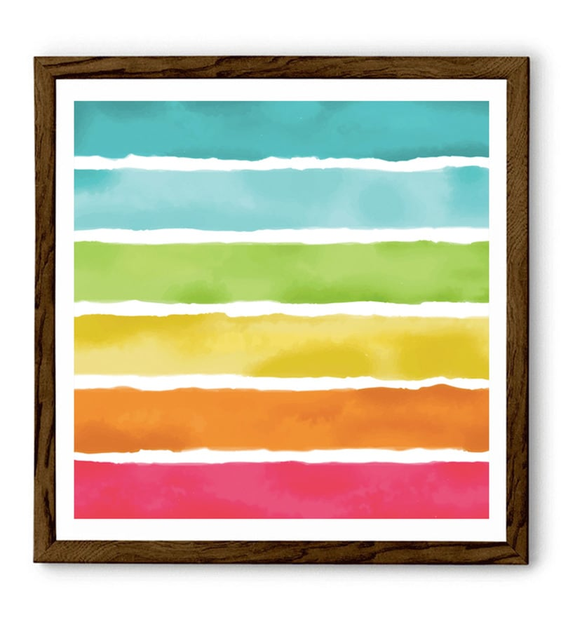 Sun Board 26 x 26 Inch The Colorful Life Framed Art Print by Hulkut