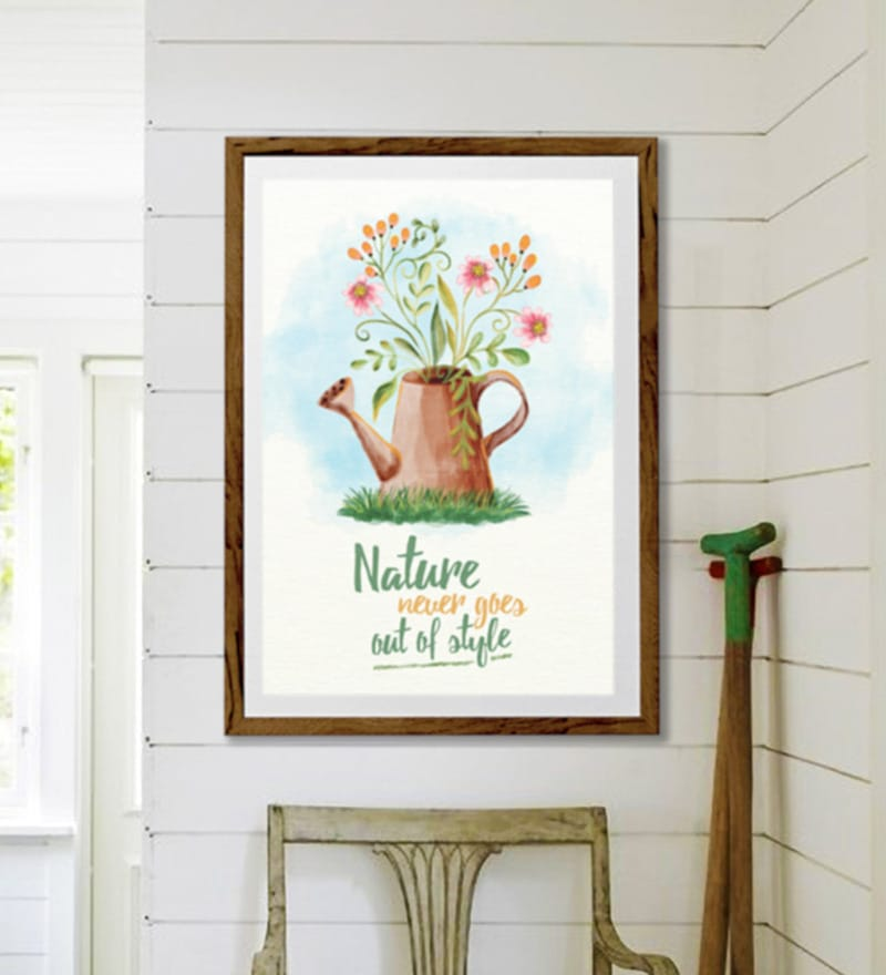 Buy Sun Board 26 x 38 Inch Nature Never Goes Out of Style Framed ...