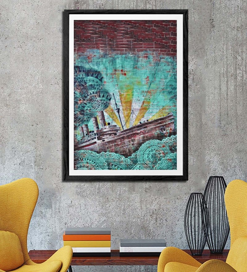 Sun Board 26 x 38 Inch Sail Away Framed Art Print by Hulkut