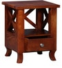 Beaumont Bed Side Table in Honey Oak Finish by Amberville