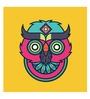 Hulkut Paper 24 x 24 Inch Funky Owl Unframed Digital Art Print