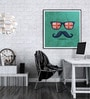 Hulkut Wooden 26 x 26 Inch Moustache Love Framed Digital Art Print
