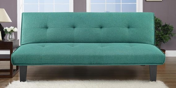 Hyge Sofa Cum Bed In Sea Green Colour By Fonzel