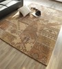 Hyde Park Brown Wool & Cotton Persepolis Distressed Hand Tufted Carpet