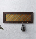 Gold Silk Moroccan Designer Key Holder