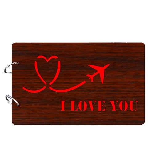 Buy I Love You Wooden Brown Photo Album Online Collage Photo