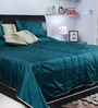 I Village Green Poly Silk Queen Size Bed Cover - Set of 6