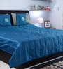 I Village Multicolour Dupion Silk Queen Size Bed Cover - Set of 6