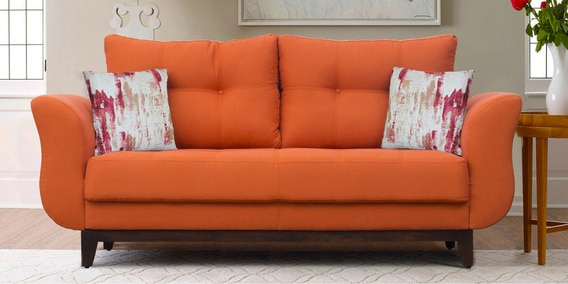 Ibiza 3 Seater Sofa In Orange Colour