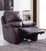 Iceland One Seater Automatic Recliner in Red Brown Colour
