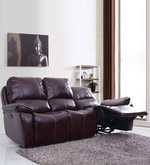 Iceland Three Seater Automatic Recliner in Red Brown Colour