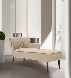 Iconic Astonishing Lounge Chaise In Beige Colour