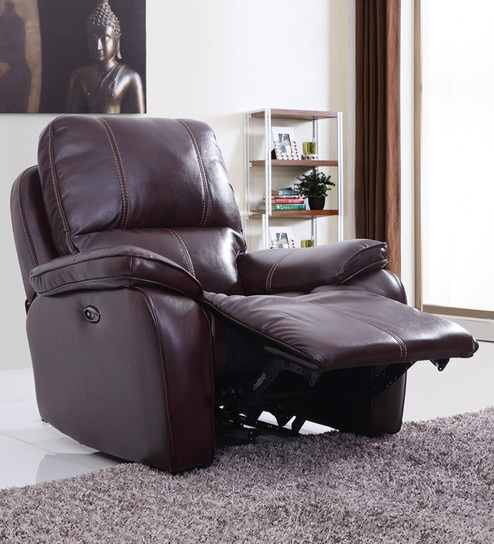 Iceland One Seater Automatic Recliner in Red Brown Colour by Evok & Buy Iceland One Seater Automatic Recliner in Red Brown Colour by ... islam-shia.org