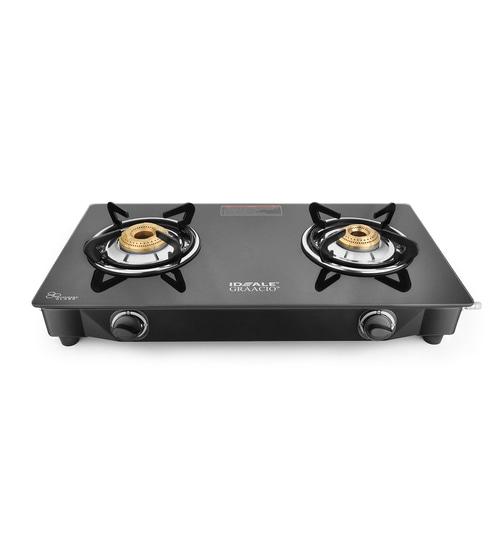 Buy Ideale Graacio Appo Glass 2 Burner Manual Ignition Gas