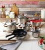 Italia Stainless Steel 15-Piece Cookware Set by Ideale