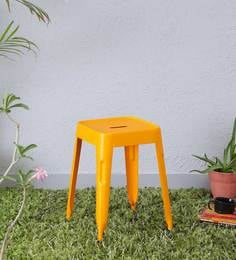 Iero Metal Stool In Yellow Colour
