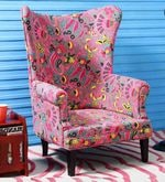 Iggy Wing Chair in Multi-Color Finish