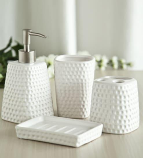 IHomes Bath Set Golf White By IHomes Online Accessories Sets - Golf bathroom accessories