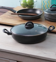 Illa Stone Coated Non Stick Induction Friendly Deep Frying Pan With Lid - 28 CM - 1377236