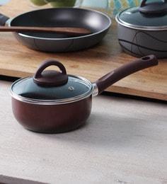 Illa Porcelain Enamel Coated Non Stick Sauce Pan With Lid - 16 CM