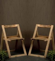 Illinois Folding Chair Set Of Two In Provincial Teak Finish