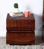 Imperial Bedside Table in Honey Finish