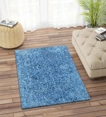Imperial Knots Blue Polyester 36 x 29 Inch Carpet
