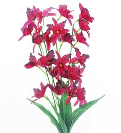 Importwala Orchid Red Artificial Flower