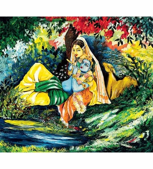 Buy imfpa krishna digital art print set of three online for Buy digital art online