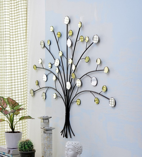 High Quality Multicolour Metal Tree Wall Decor By Importwala