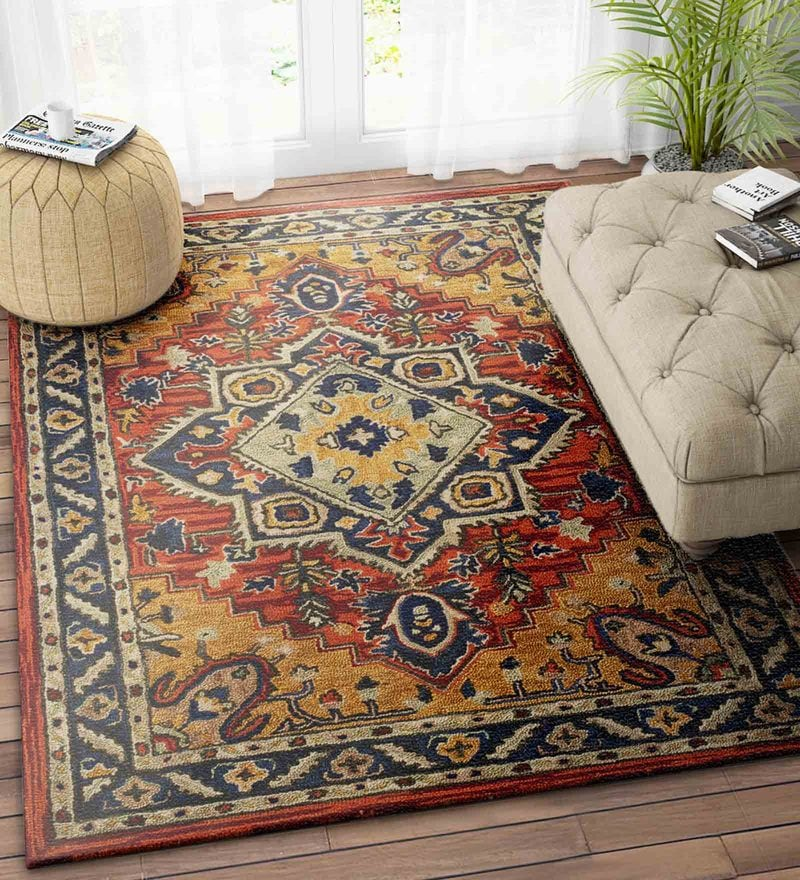 Imperial Knots Multicolor Wool 60 x 96 Inch Turkish Carpet