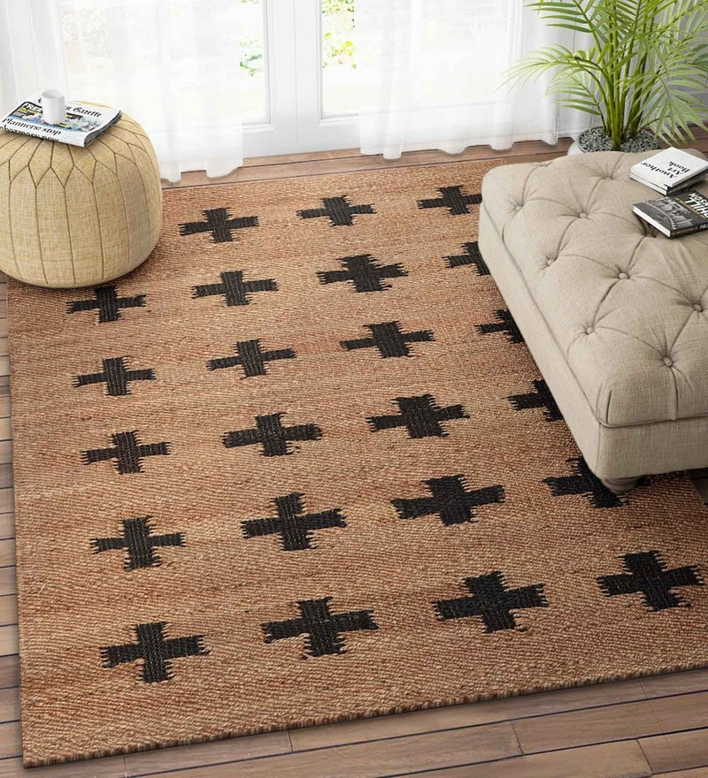 Imperial Knots Natural Jute 36 x 60 Inch Modern Dhurrie