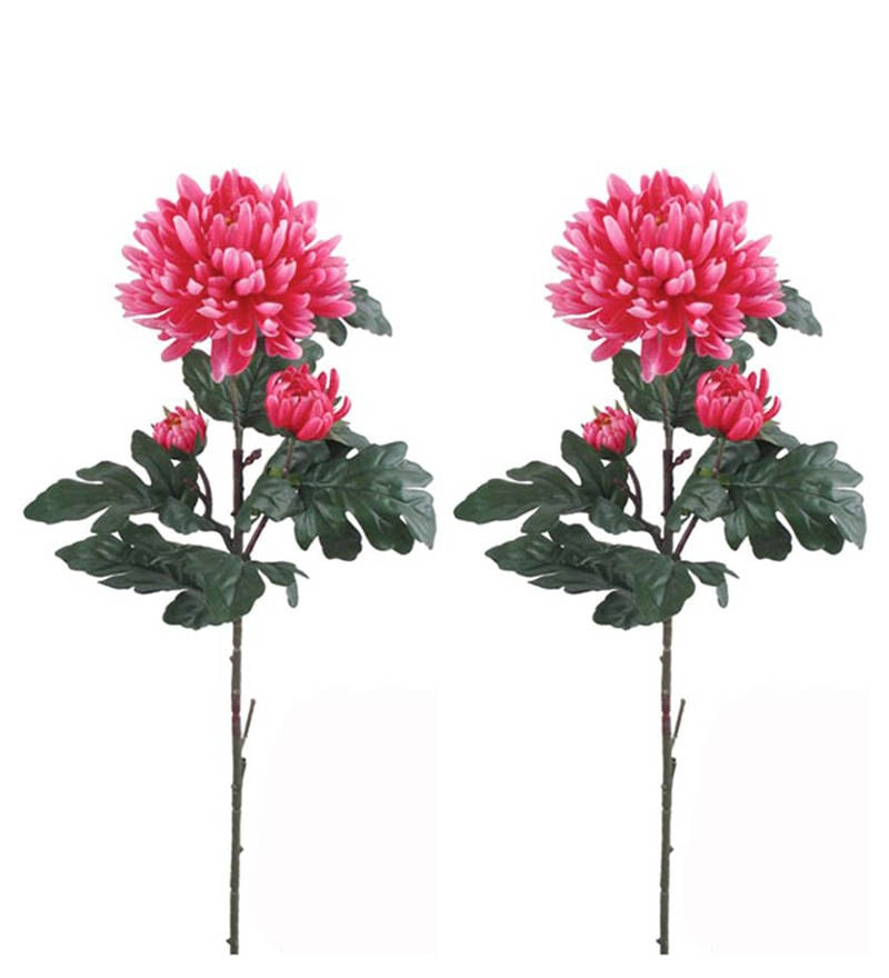 Importwala Bawang Pink Polyester Artificial Flower
