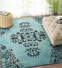 Aqua Wool 60 x 96 Inch Carpet by Imperial Knots