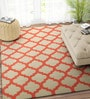 Beige & Coral Wool 96 x 60 Inch Carpet by Imperial Knots