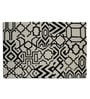 Imperial Knots Black & Ivory Wool 72 x 48 Inch Carpet