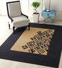 Black Wool 48 x 72 Inch Carpet by Imperial Knots