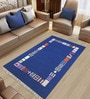 Blue Woolen Abstract Rectangular Hand Woven Rug by Imperial Knots