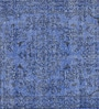 Blue Woolen Vintage Rectangular Hand Knotted Carpet by Imperial Knots
