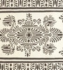 Brown & Ivory Woolen Floral Rectangular Hand Woven Rug by Imperial Knots