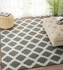 Charcoal & Ivory Wool 72 x 48 Inch Dhurrie by Imperial Knots