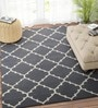 Imperial Knots Charcoal & Ivory Wool 96 x 60 Inch Carpet