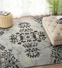 Grey & Ivory Wool 60 x 96 Inch Carpet by Imperial Knots