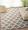 Grey & Ivory Wool 96 x 60 Inch Carpet by Imperial Knots