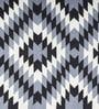 Grey Wool 96 x 60 Inch Yildiz Star Hand-Woven Turkish Kilim Area Rug by Imperial Knots