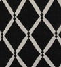 Handmade Diamond Black Wool Area Rug by Imperial Knots