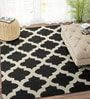 Ivory & Black Wool 48 x 72 Inch Carpet by Imperial Knots