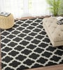Ivory & Black Wool 60 x 96 Inch Carpet by Imperial Knots